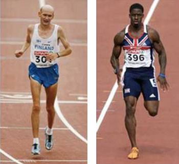 Lichaamsbouw duursporter vs. sprinter