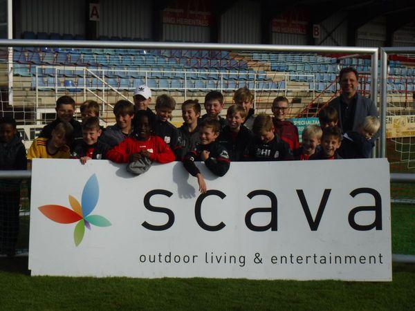 Scava steunt jong voetbaltalent